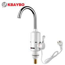3000W Electric Water Heater Tankless Kitchen  Instant Hot Water Tap Heater Electric Water Faucet Heating tap 220v цена и фото