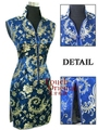 Free Shipping  Navy Blue New Chinese traditional Women's silk Mini Qipao Cheong-sam  Evening Dress S M L XL XXL XXXL