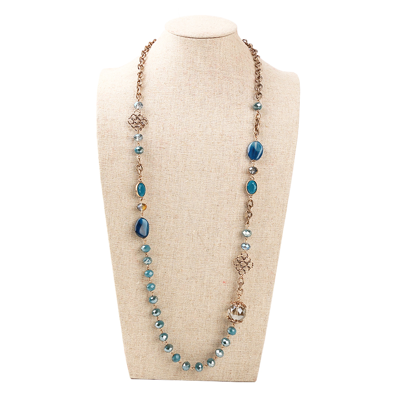 European and American all-match Beaded Necklace long paragras