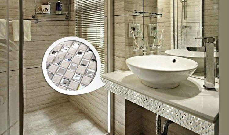 porcelain floor tile mirror mosaic tile sheets bathroom wall tiles ceramic mosaics kitchen backsplash mirrored wall