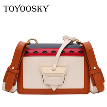 TOYOOSKY Brand New 2019 Women Handbags Sac A Main Panelled Crossbody Bags Designer High Quality PU Leather Flap Bag Bolsos Mujer