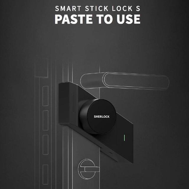 Sherlock S2 cerradura de puerta inteligente sin llave, para el hogar, funciona con la mecánica, Control por aplicación móvil