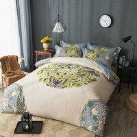 ユニークなオリエンタルスタイルのヴィンテージ中国寝具セットクイーンキングサイズ綿100%花孔