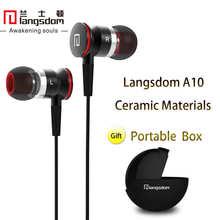 Langsdom A10 Bass In-ear Earphones HiFi Ceramic Housing Earpod Earbud Headsets Wth Mic for mobilephone