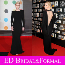 Iggy Azalea Kleid zu 2013 Brit Award Roter Open Back Prom Kleid Trikot Formal Abendkleid