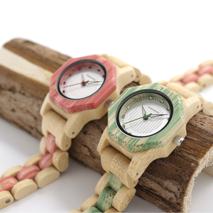 Image 2 - BOBO BIRD Newest Ladies Quartz Watches Octagon Natural Bamboo Watch Case Womens Brand in Wooden Box Dropshipping
