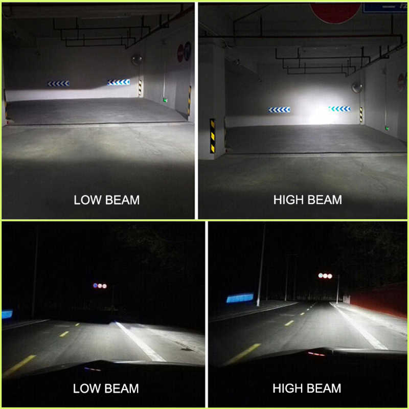 NIGHTEYE Super Bright H4 H7 LED Lamp H11 HB3/9005 HB4/9006 H1 H3 h11 led 12V Auto Bulb Headlamp 6000K Car Light Bulbs lampada h7