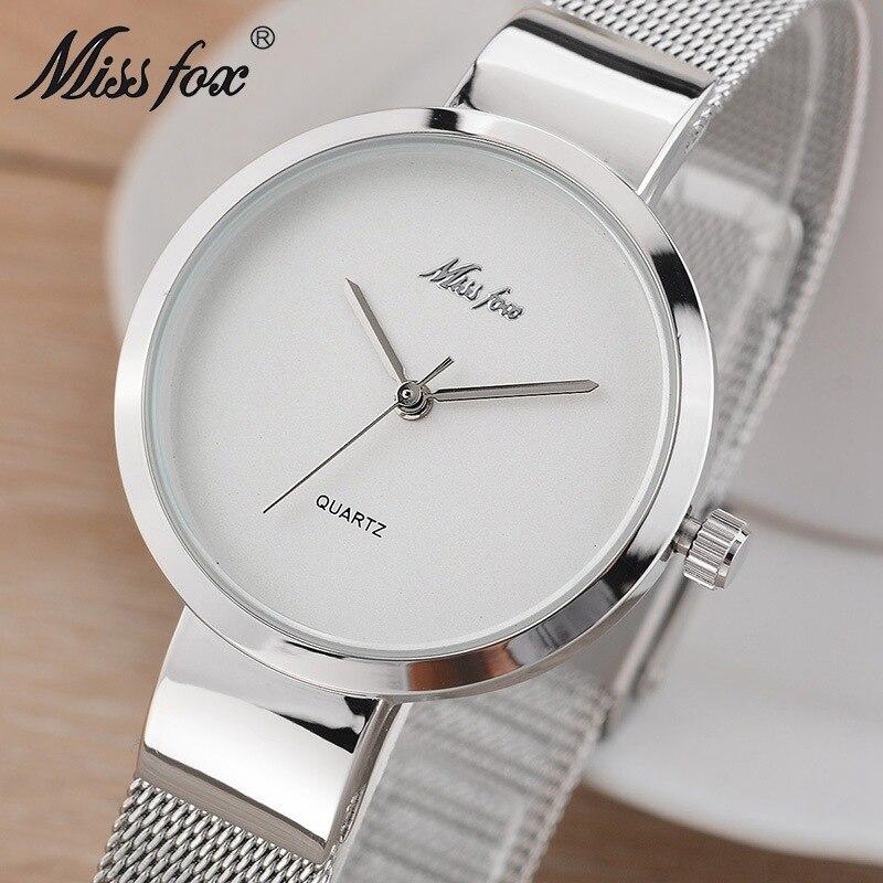 Mlle fox étanche 50 m montre-bracelet de mode simple femmes de montre dames de haute qualité montre à quartz étudiant fil bracelet montre