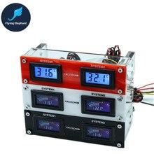 Дисплей температуры оптического привода многофункциональная Панель двойной экран для компьютера водяного охлаждения