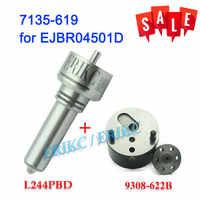 ERIKC soupape de commande 9308-622B + buse L244PBD Diesel injecteur Kits de réparation 7135-619 pour Ssangyong Kyron EJBR04501D 6640170121