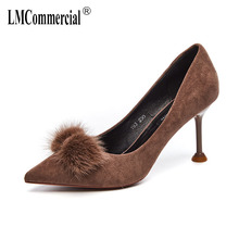 new high-heelewomen's thin heel pointed shallow mouth summer shoes autumn Korean women shoes high heel luxury women shoes