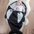 2016 Creative Sharks Baby Sleeping Bags Cartoon Soft Winter Newborns Infant Child Children Bedding Baby Swaddle Blanket 3Colors