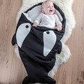 2016 Tiburones Creativas Bolsas de Dormir Del Bebé Suave de la Historieta de Invierno Recién Nacidos Infantiles Niño Niños ropa de Cama de Bebé Swaddle Manta 3 Colores