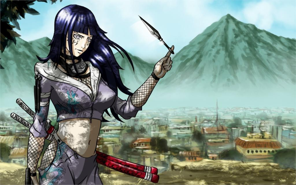 ̿̿̿(•̪ )Anime NARUTO SHIPPUDEN hyuuga hinatakonoha Sala hogar pared ...