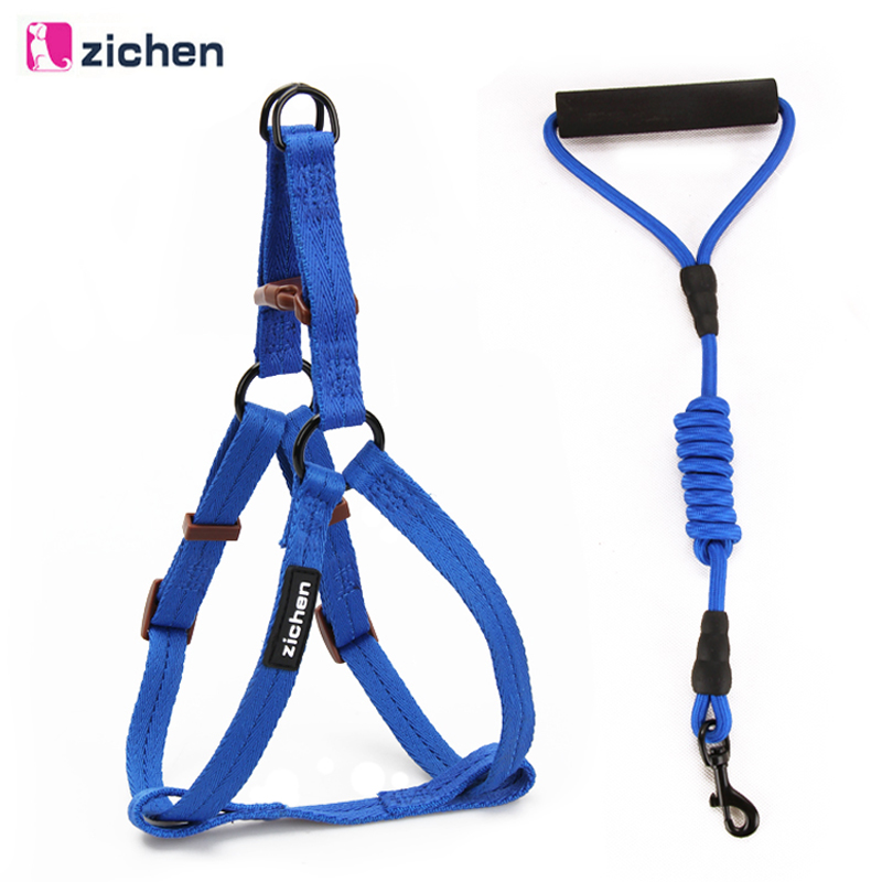 Pet Dog Nylon Harness Leash Set Small Meduim Large Rope