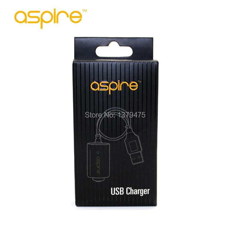 Wholesale - Original Aspire USB Chargers Ego Charger E Cig Battery Cable Charger USB Aspire Charger 100Pcs/Lot Cheap