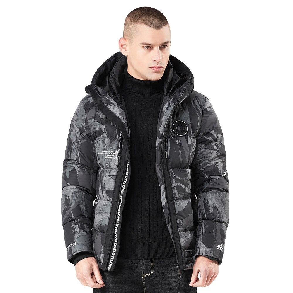 winter jacket men hooded winter jacket men outdoor winter jacket men duck   down     coat   winter jacket men waterproof windproof #4O26
