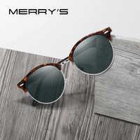 MERRYS DESIGN Men Women Classic Retro Rivet Polarized Sunglasses Unisex Glasses Fashion Male Eyewear UV400 Protection S8054N
