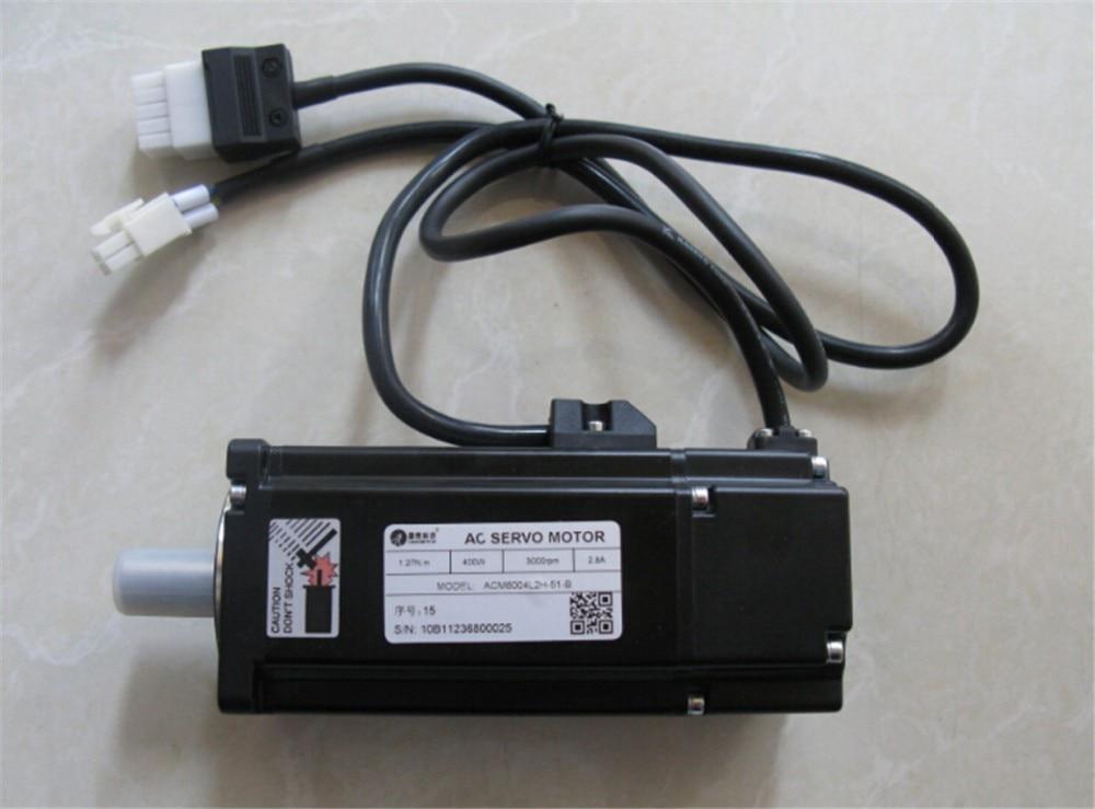 Leadshine 60mm 400W Servo Motor+Drive Set ACM6004L2H 51 B+L5 400 1PH 220V AC Servo Motor Drive Kit 3A 1.27NM 2500ppr 50/60Hz - 5