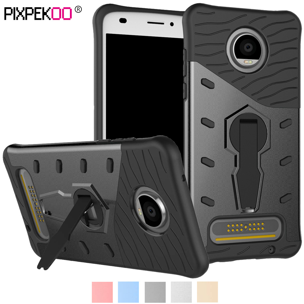 promo code 25ba8 82ed2 US $3.65 |For Motorola Moto Z2 Play Case Shock Absorption Slim Fit Rugged  Armor Protection Phone Case Cover with Rotating Kickstand Stand-in Fitted  ...