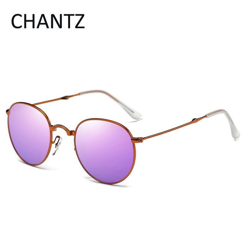 Vintage okrogla zložljiva polarizirana sončna očala ženske - Oblačilni dodatki