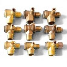 1 шт. 3 порта обратный клапан латунный внутренний/наружный обратный клапан/обратный клапан Соединитель Инструмент для воздушного компрессора высокая твердость