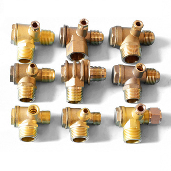 1Pcs 3 Port Check Valve Brass Internal/Male Thread Return Valve/Check Valve Connector Tool For Air Compressor High Hardness ford eoaz 7e195 b ball check valve