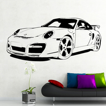 Black Classic Car Wall Sticker Home Decor for boy bedroom Removable waterpoof Vinyl Wall Stickers Mural poster Home Decor