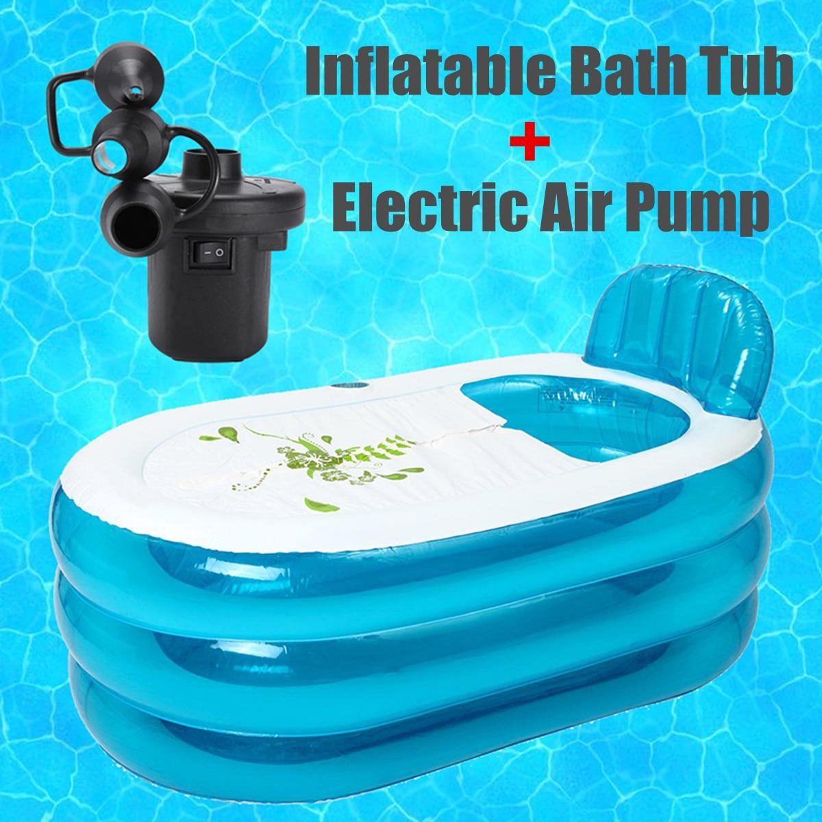 1Set 140x75x70cm PVC Folding Portable <font><b>Bathtub</b></font> for Adults Inflatable Bath Enjoy life <font><b>Bathtub</b></font> with Inflatable and deflation Pump