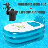 Bañera portátil plegable de PVC de 120x75x70 cm para adultos baño inflable disfrutar de la bañera de la vida con inflable y la deflación de la bomba