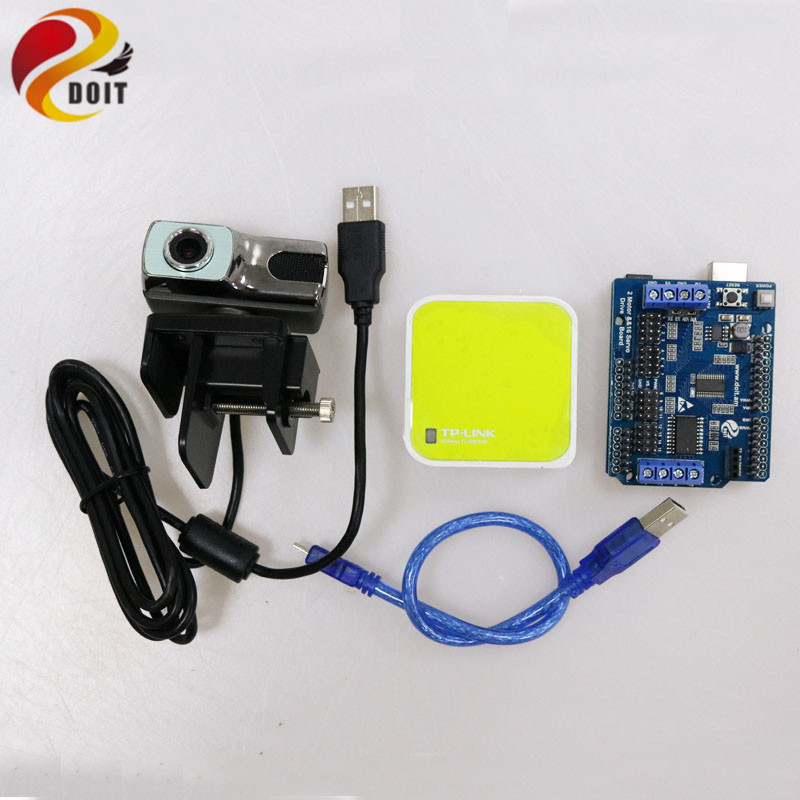 Video Controller Kit for Robot Arm Tank/Car Chassis Remote Control Kit by ESPduino with openwrt Router Camera