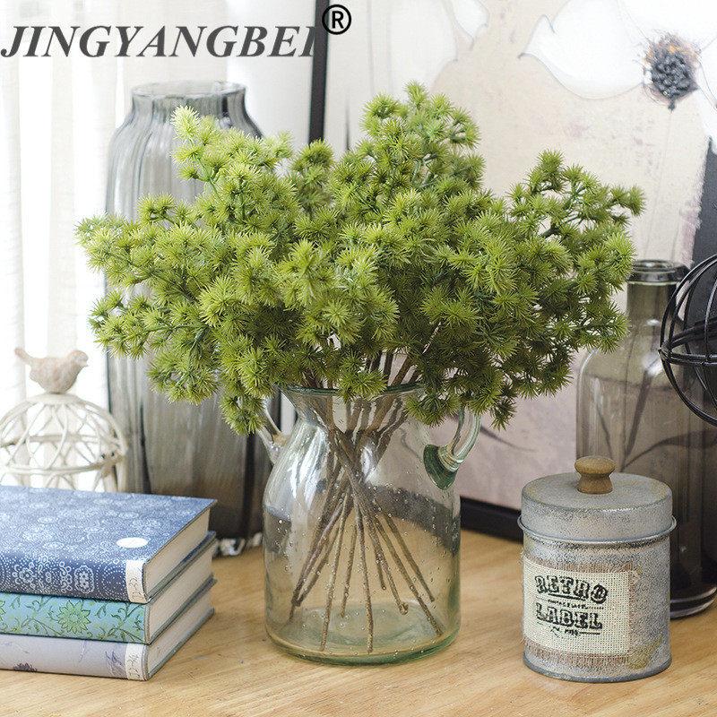 Artificial Christmas pine needles simulation fake plant DIY Hair bands decoration wedding home table Christmas accessories 1pcs