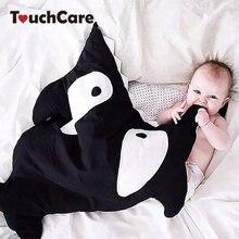 TouchCare Requin de Bande Dessinée Bébé Sac de Couchage Doux Épais Couverture Infantile Wrap Literie Sommeil Sacs D'hiver Nouveau-Né Enfants Sacs de Couchage