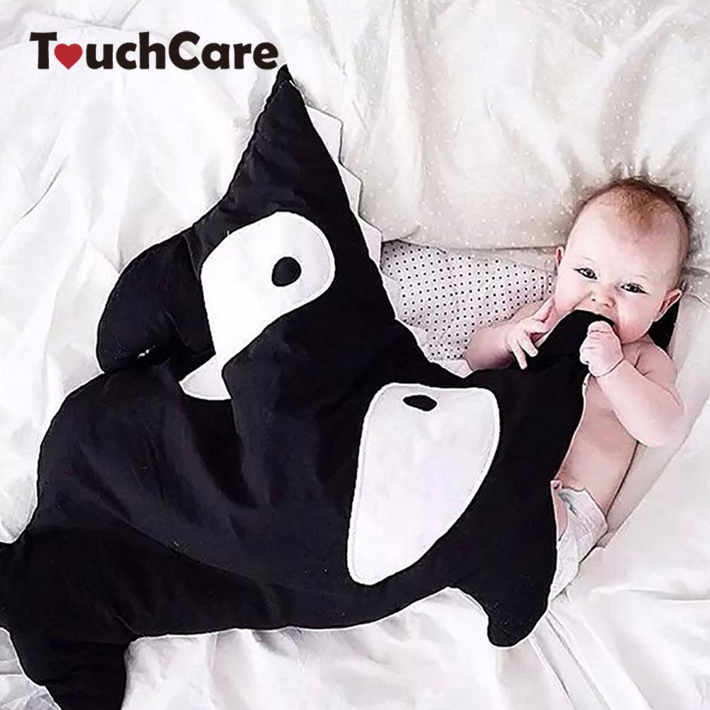 Touchcare мультфильм акула спальный мешок для малышей Мягкие толстые Одеяло младенческой Обёрточная бумага Постельные принадлежности мешки сна новорожденных детей Спальные мешки
