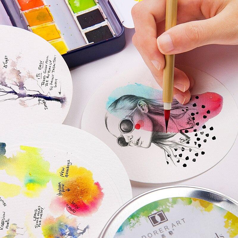 aquarelle água-solúvel livro pintura papel pintado à