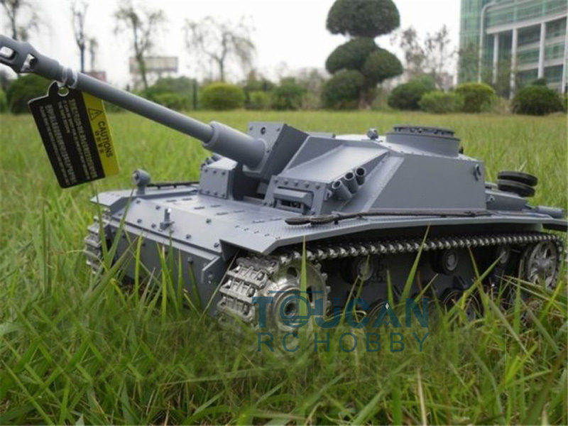 HengLong 1/16 Scale Upgraded Metal Version German Stug III RTR RC Tank Model 3868 bronco cb35116 1 35 wwii german stug iii ausf c d 2 in 1