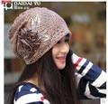 Free shipping Women in the autumn Han edition turban confined in winter cap pile of pile cap Age season baotou turtleneck cap