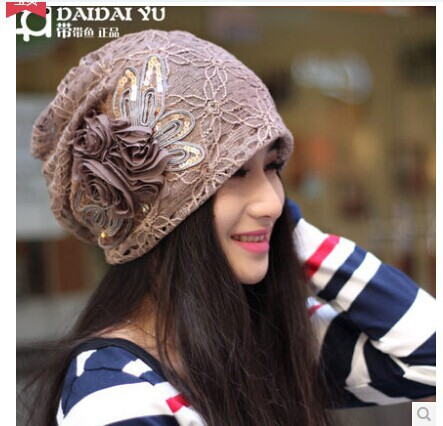 Free shipping Women in the autumn Han edition turban confined in winter cap pile of pile cap Age season baotou turtleneck cap