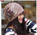 Mulheres do outono Han edição turbante confinados em idade baotou cap pilha de cap pilha cap gola