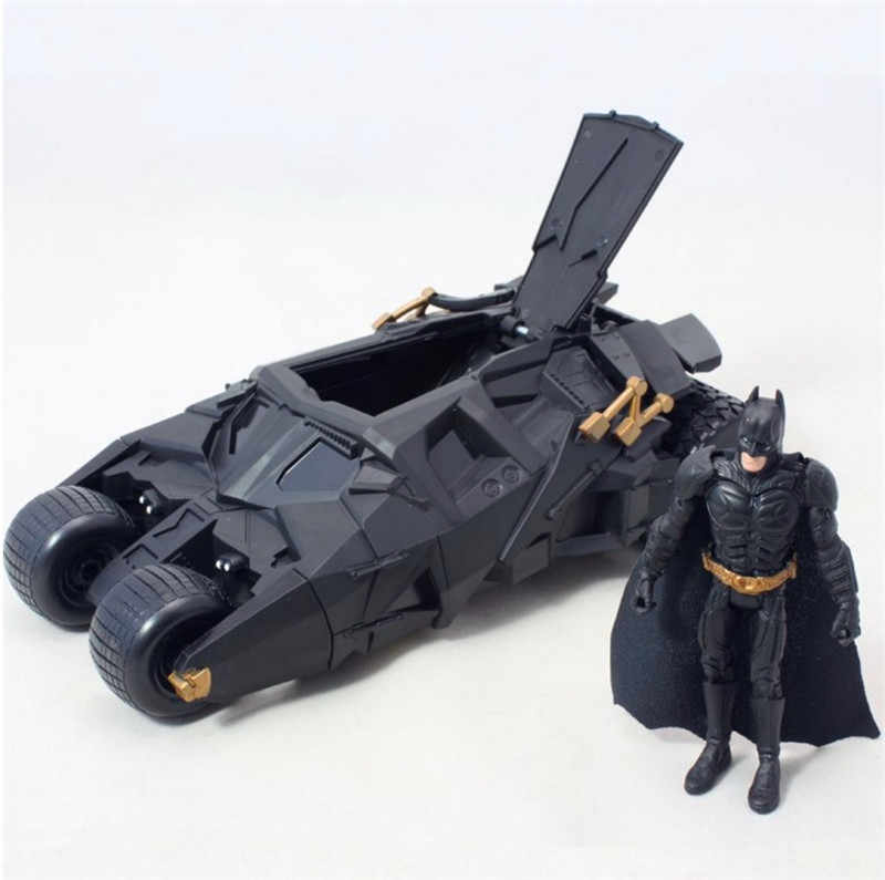 2Pcs/Set Batman Tumbler Battle Vehicle Simulation Model Toy Car With Movable PVC Action Figure Toys Kids Christmas Gift