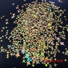 Четырехугольные Блестящие Блестки в форме звезд для украшения ногтей, гель для ногтей, ручное творчество, рукоделие, Декор