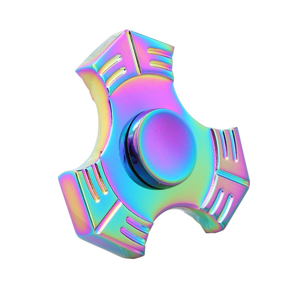 Tri Spinner Fidget Toy Plastic EDC Hand Spinner For Autism and ADHD fidget spinner