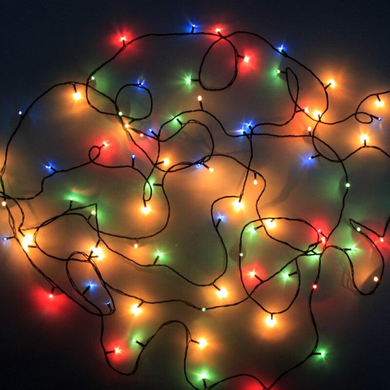 Для рождественской вечеринки украшения огни Лампы для мотоциклов Люстры Рождество дерево помещении на открытом воздухе красочные блестящ...