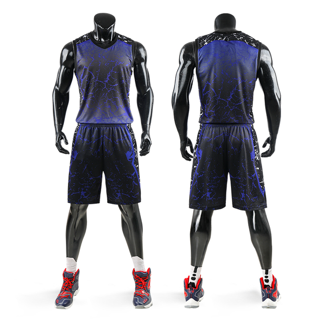 Men Breathable Team Sports Suit Basketball Jerseys Uniforms Jerseys Sets Competition Basketball Jerseys Tracksuit Custom Print