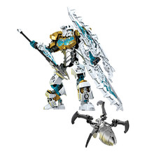 Bioniclemask Of Light ChildrenS Kopaka Master Ice Bionicle Building Blocks Compatible with 70788 Toy Bringuedos