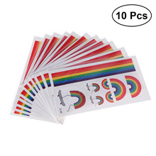 10 Pcs Lesbian Waterproof Colorful Body Temporary Stickers