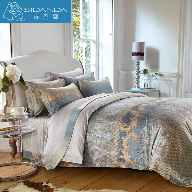 Sidanda Pure Cotton Bedding Set Duvet Cover Printed Pillow Quilt Bed Sheet Brand Design For Home Grand Hotel