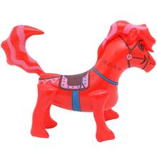 LeadingStar Children Inflatable Ride-on Pony Toy Thicken PVC Red Horse for Boys and Girls zk25