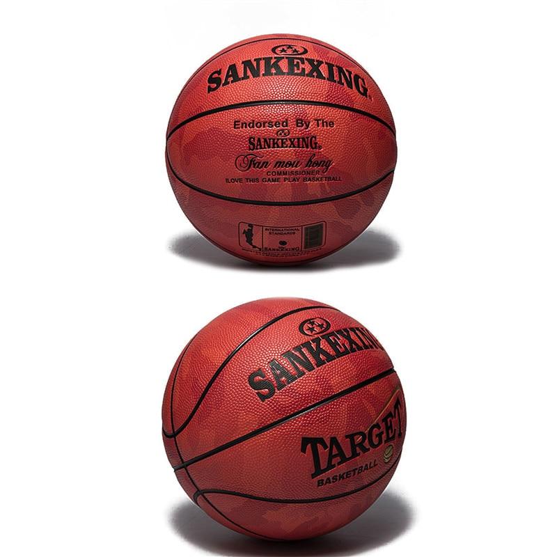 b1e404f02e4 SANKEXING Basketball Teenager PU Leather Basketball Ball Size 5 ...