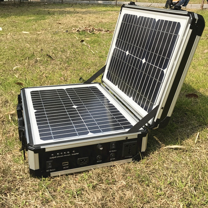 300W Solar Power System for Outdoor House Use Rescue Emergency Solar Charger Including 300W Inverter 10A controller 100w folding solar panel solar battery charger for car boat caravan golf cart